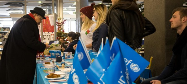 Le stand au profit de l'Unicef