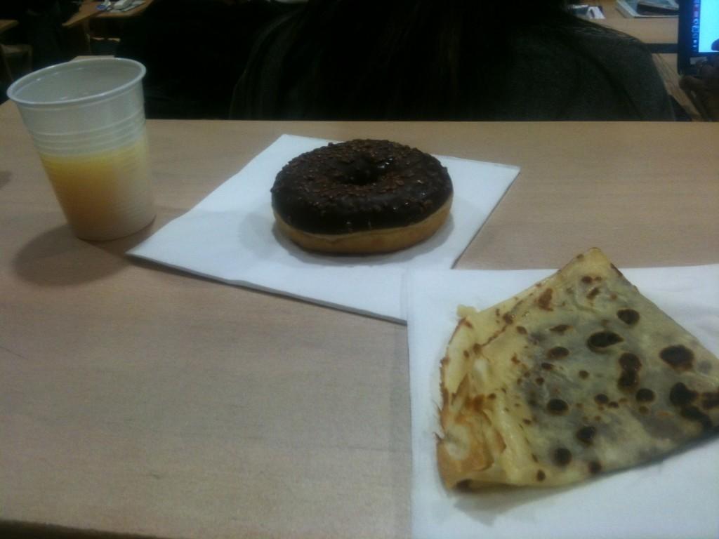 Exemple de ma collation lors d'un petit déjeuner :)