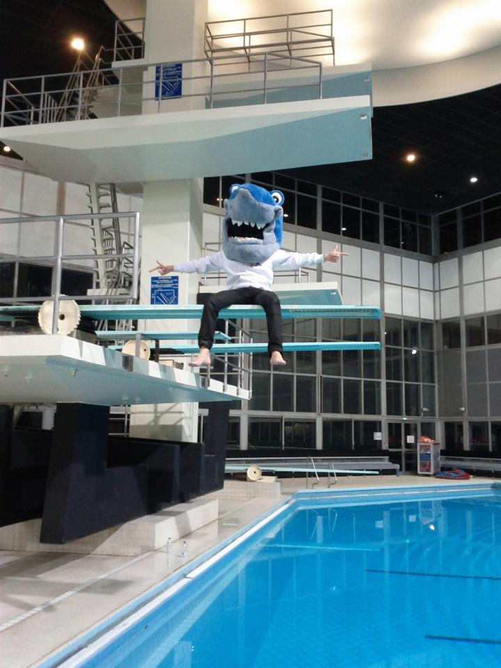 Michel à la piscine !