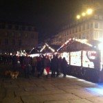 Chalets du marché de Noël