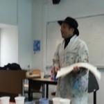 Le peintre très chaleureux qui nous a donné ce cours !