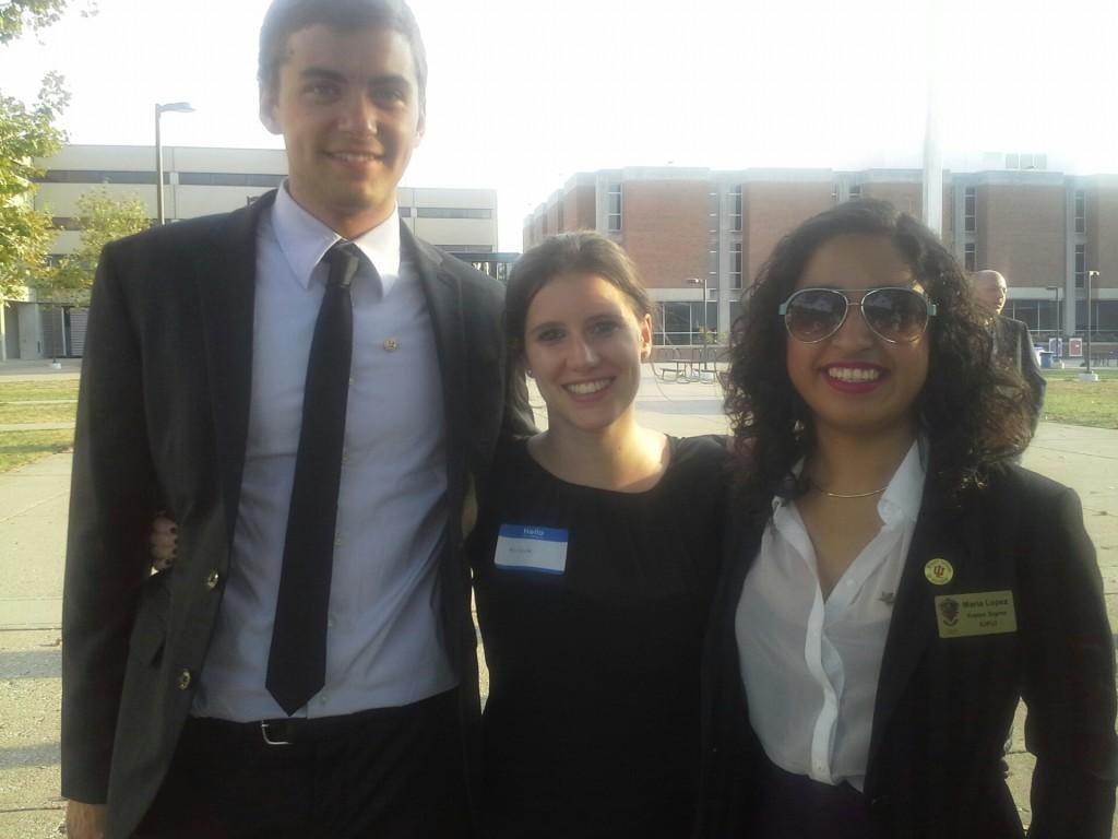 Avec le président et ma coloc Maria, membre de la fraternité