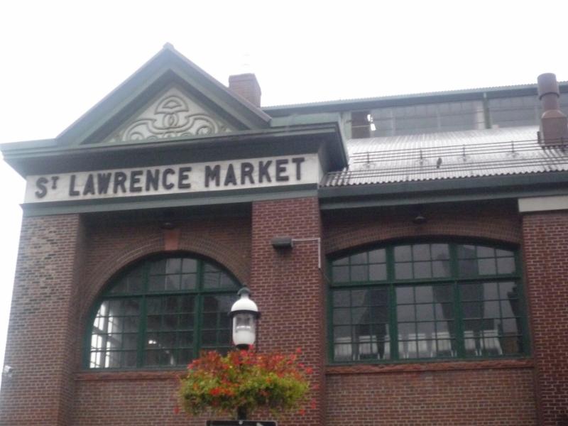 St Lawrence market, très réputé mais fermé...