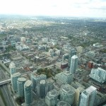 Vue de la CN Tower sur Toronto
