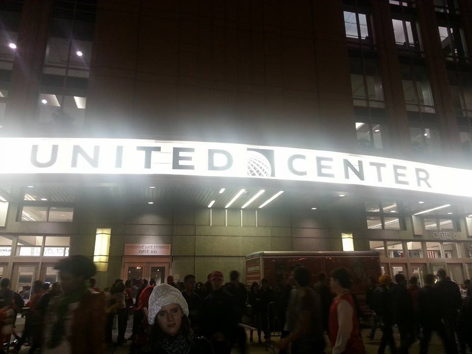 L'entrée du united center